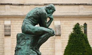 The thinking in Rodin Museum in Paris