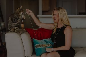 Tracy Dowdy with Cat