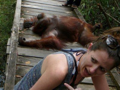 Lady with Orangutan